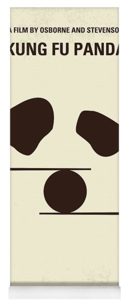 No227 My Kung Fu Panda Minimal Movie Poster Yoga Mat