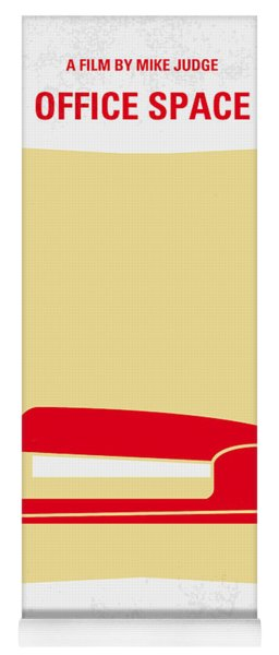 No255 My Office Space Minimal Movie Poster Yoga Mat