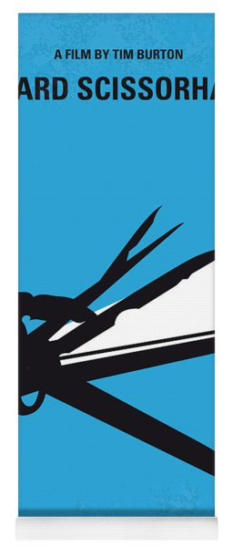 No260 My Scissorhands Minimal Movie Poster Yoga Mat