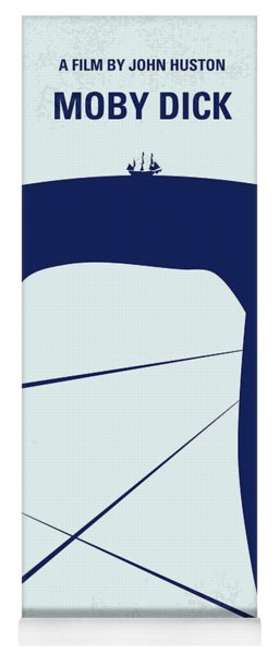 No267 My Moby Dick Minimal Movie Poster Yoga Mat