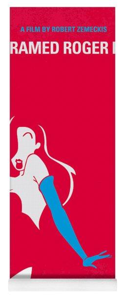 No271 My Roger Rabbit Minimal Movie Poster Yoga Mat