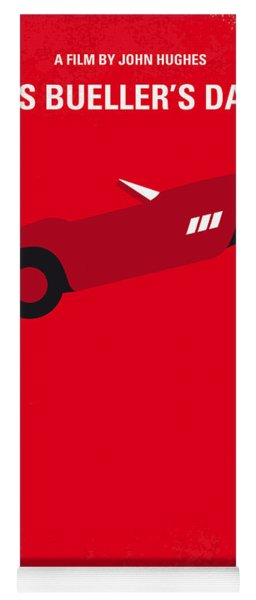 No292 My Ferris Bueller's Day Off Minimal Movie Poster Yoga Mat