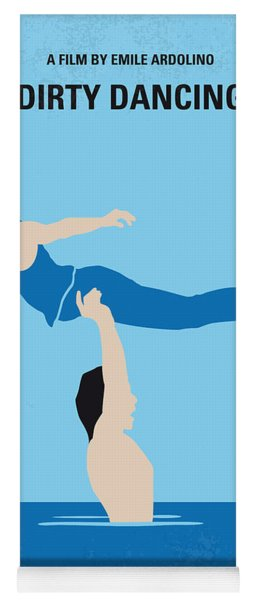 No298 My Dirty Dancing Minimal Movie Poster Yoga Mat