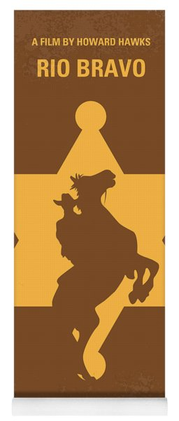 No322 My Rio Bravo Minimal Movie Poster Yoga Mat