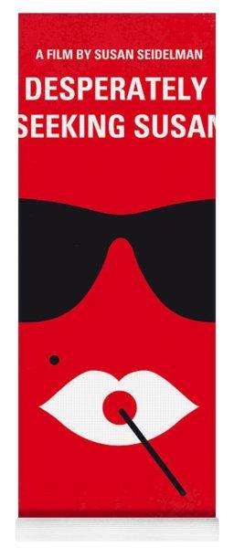No336 My Desperately Seeking Susan Minimal Movie Poster Yoga Mat