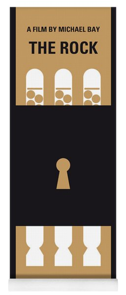 No339 My The Rock Minimal Movie Poster Yoga Mat