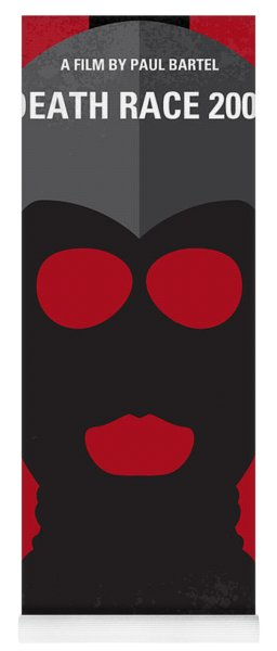No367 My Death Race 2000 Minimal Movie Poster Yoga Mat
