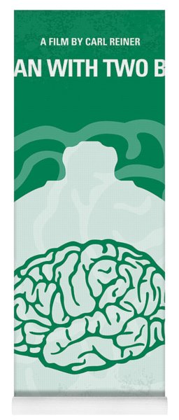 No390 My The Man With Two Brains Minimal Movie Poster Yoga Mat