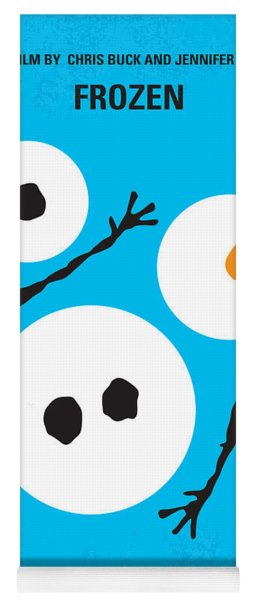 No396 My Frozen Minimal Movie Poster Yoga Mat