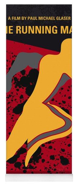 No425 My Running Man Minimal Movie Poster Yoga Mat