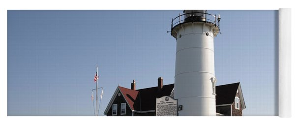 Nobska Lighthouse On Cape Cod At Woods Hole Massachusetts Yoga Mat