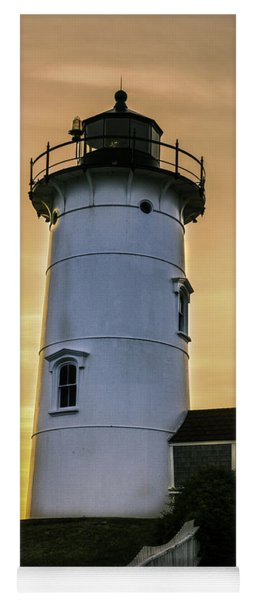 Nobska Lighthouse With Starburst Yoga Mat
