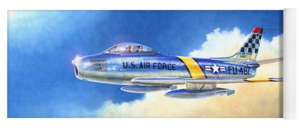 North American F-86f Sabre Yoga Mat