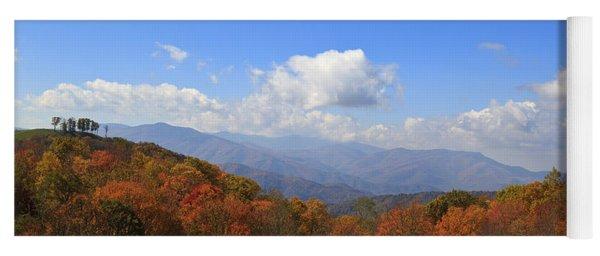 North Carolina Mountains In The Fall Yoga Mat