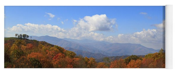 North Carolina Mountains In The Fall Yoga Mat