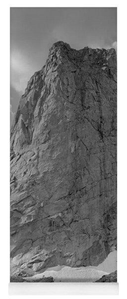 109649-bw-north Face Pingora Peak, Wind Rivers Yoga Mat