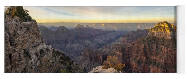 North Rim Sunrise Panorama 2 - Grand Canyon National Park - Arizona Yoga Mat