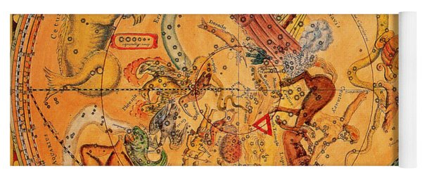 Northern Hemisphere Constellations, 1686 Yoga Mat