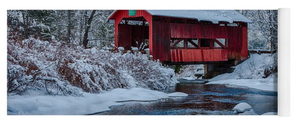 Northfield Vermont Covered Bridge Yoga Mat