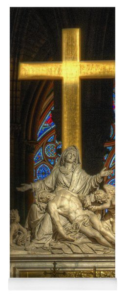 Notre Dame Pieta Yoga Mat