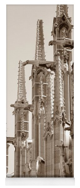 Notre Dame Sentries Sepia Yoga Mat