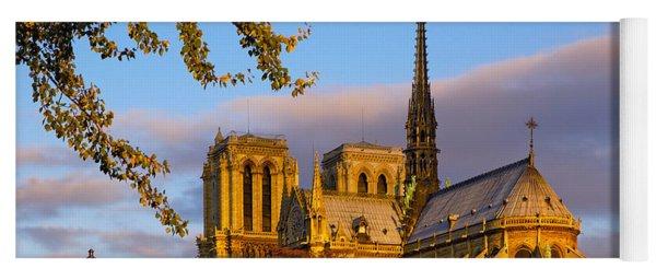 Notre Dame Sunrise Yoga Mat