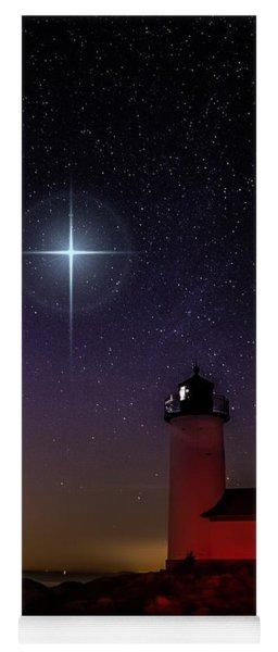 Star Over Annisquam Lighthouse Yoga Mat