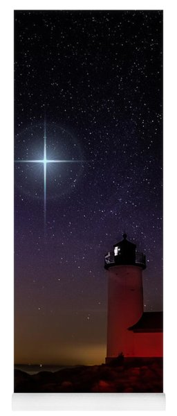 Star Over Annisquam Lighthouse Yoga Mat