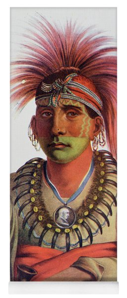 Nowaykesugga, An Otto, Illustration From The Indian Tribes Of North America, Vol.3, By Thomas L Yoga Mat
