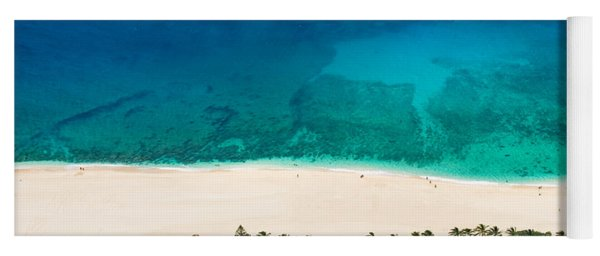 Pipeline Reef From Above Yoga Mat