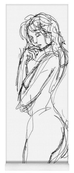 Nude Female Sketches 1 Yoga Mat