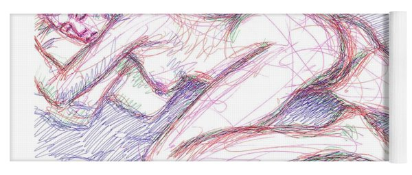 Nude Female Sketches 5 Yoga Mat