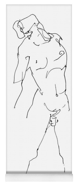 Nude-male-drawing-11 Yoga Mat