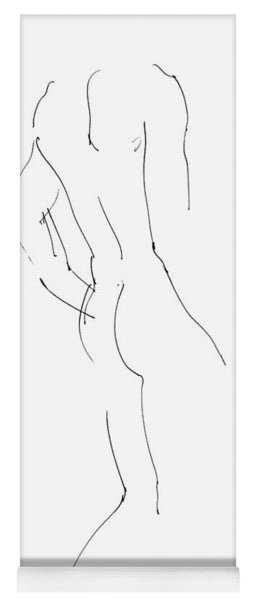 Nude Male Drawings 2 Yoga Mat