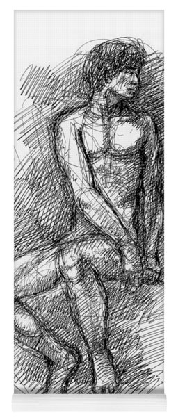 Nude Male Sketches 1 Yoga Mat