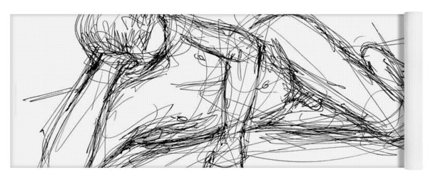 Nude Male Sketches 5 Yoga Mat