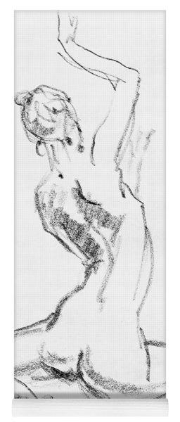 Nude Model Gesture V Yoga Mat