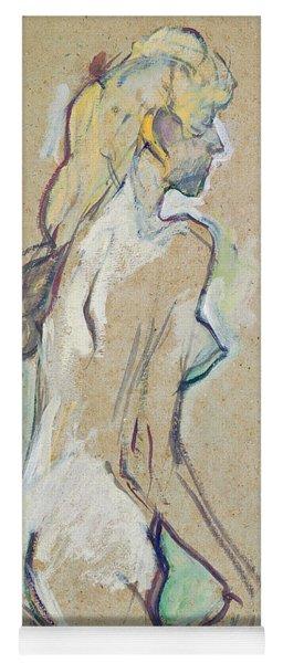 Nude Young Girl Yoga Mat