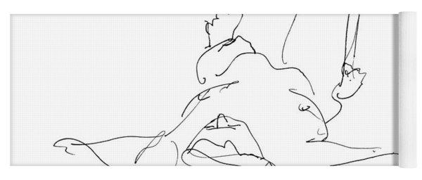 Nude_male_drawings-22 Yoga Mat