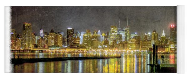 Nyc At Night Yoga Mat