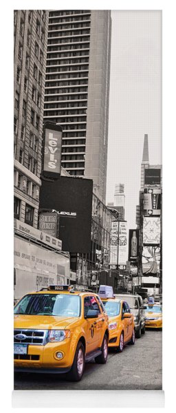 Nyc Yellow Cabs Yoga Mat