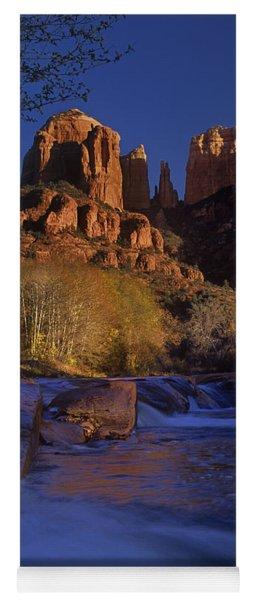 Yoga Mat featuring the photograph Oak Creek Crossing Sedona Arizona by Dave Welling