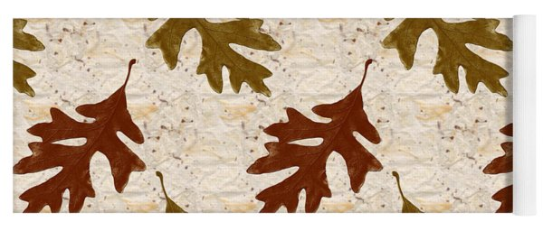 Oak Leaf Pattern Yoga Mat