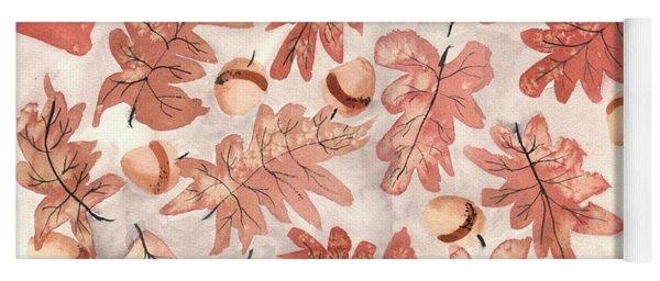 Oak Leaves And Acorns Yoga Mat