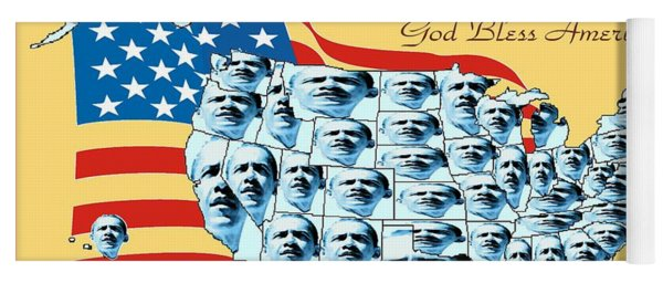 Barack Obama Victory Map - Us Election 2012 Poster Yoga Mat