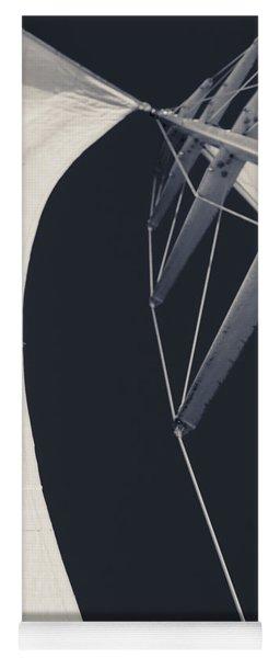 Obsession Sails 9 Black And White Yoga Mat