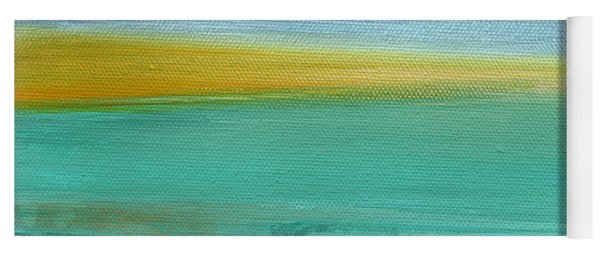 Ocean Blue 3- Art By Linda Woods Yoga Mat