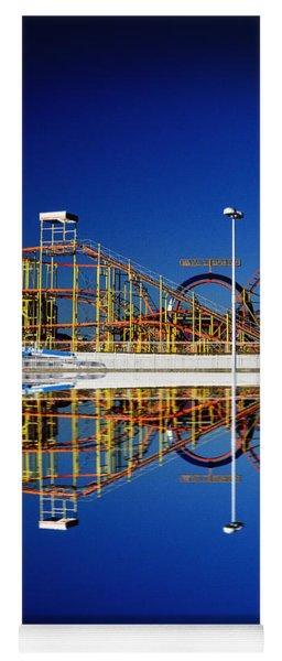 Ocean City Amusement Pier Reflections Yoga Mat