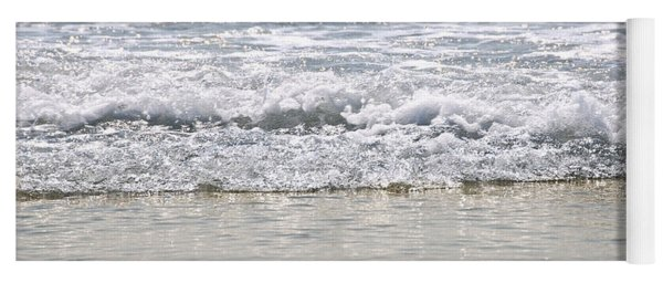 Ocean Shore With Sparkling Waves Yoga Mat