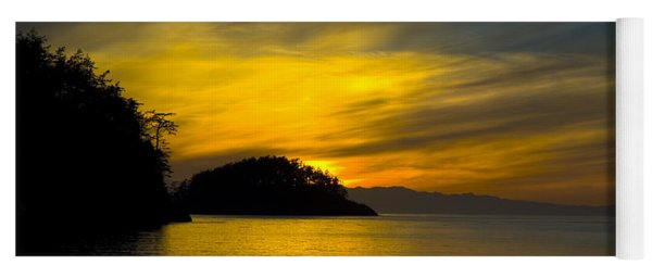 Ocean Sunset At Rosario Strait Yoga Mat